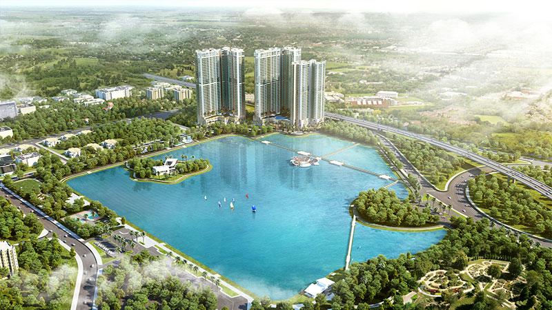 Sống xanh trong lành bên hồ điều hoà rộng bậc nhất Hà Nội