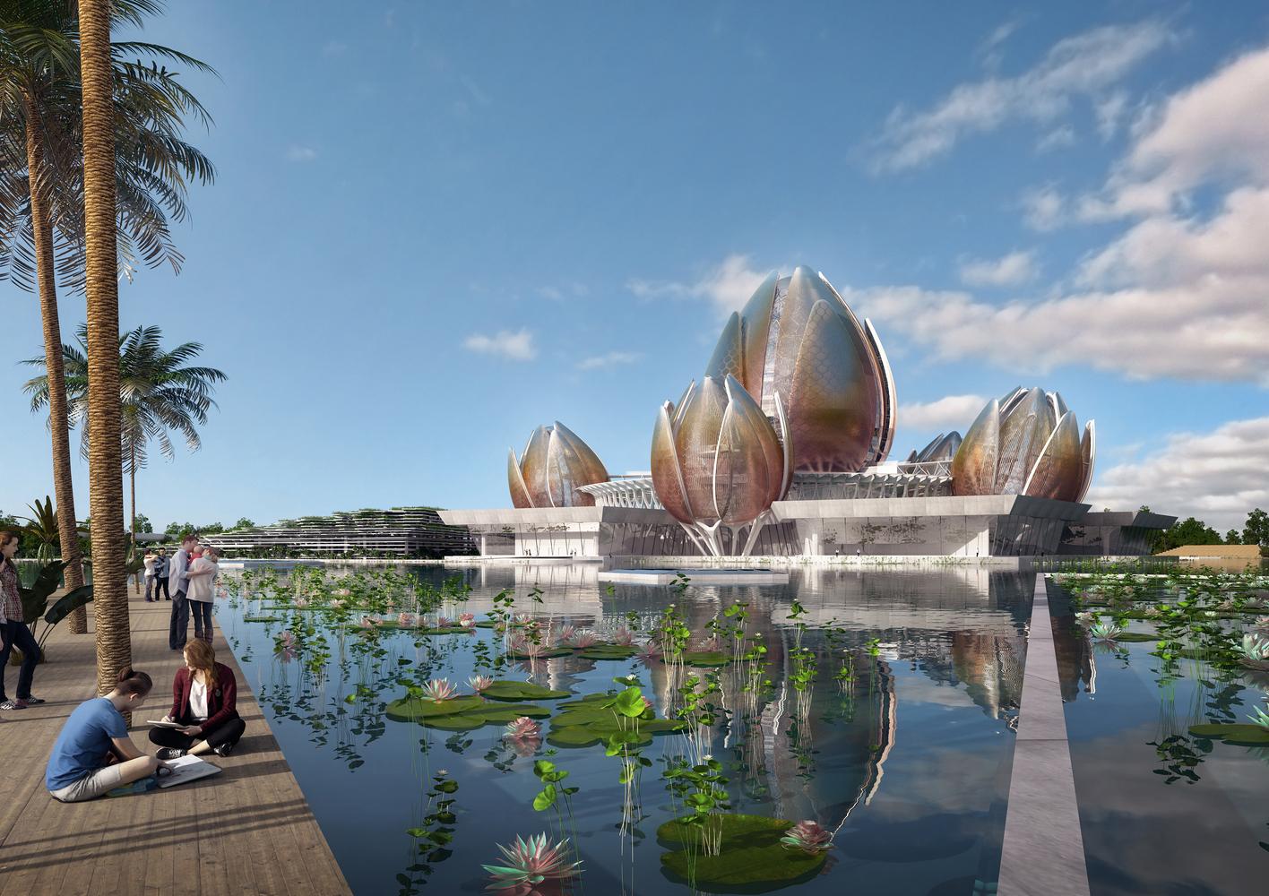 Hoa sen trở thành cảm hứng thiết kế nhà hát Opera ở Hà Nội