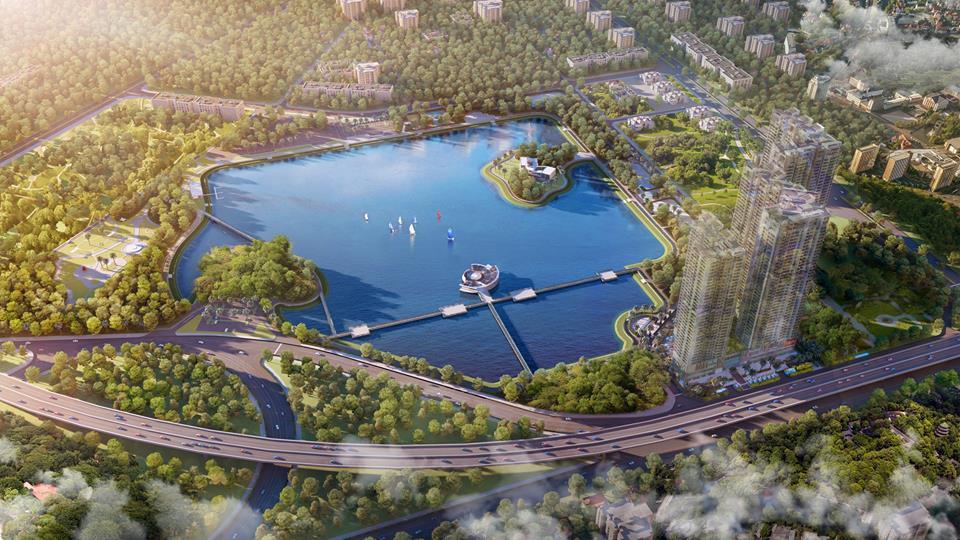 Kết quả hình ảnh cho Công viên, hồ điều hòa Yên Hòa - Cầu Giấy